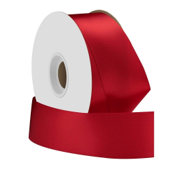Red Single Face Satin Ribbon 38mm x 50m