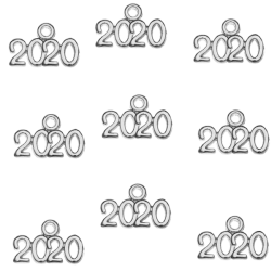 Metal charm 2020 antique silver
