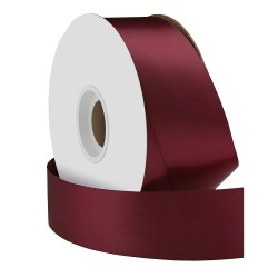 Single Face Satin Ribbon Bordeaux 38mm