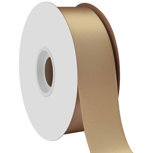 Gold Single Face Satin Ribbon 38mm x 50m