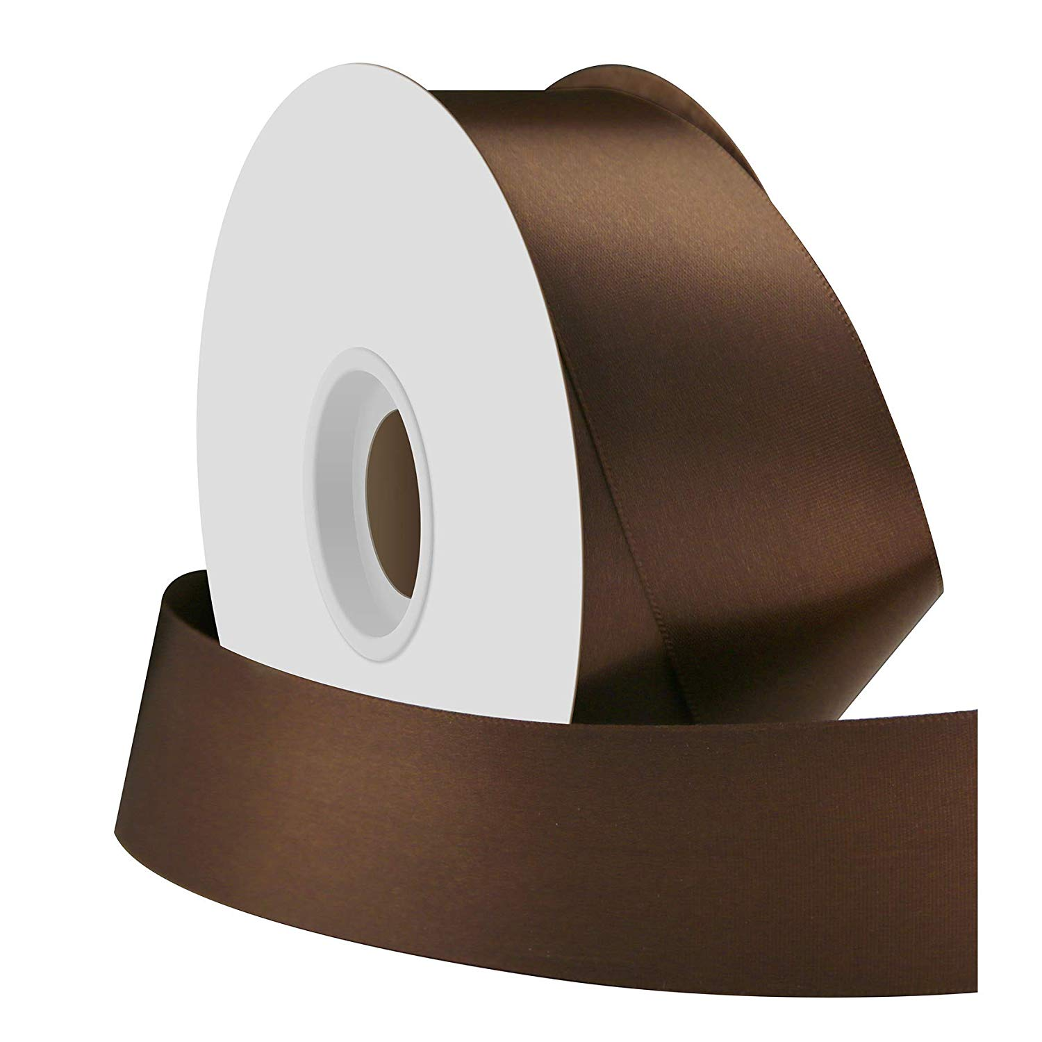 Brown Single Face Satin Ribbon 38mm x 50m