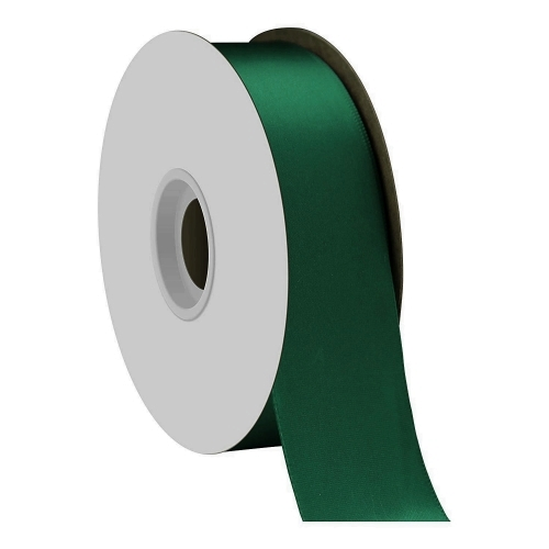 Forest Green Single Face Satin Ribbon 38mm x 50m