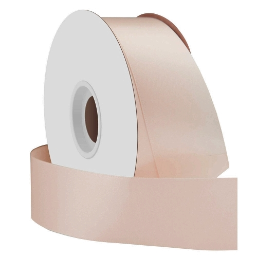 Nude Single Face Satin Ribbon 38mm x 50m