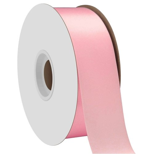 Pink Single Face Satin Ribbon 38mm x 50m
