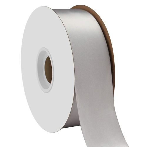 Silver Single Face Satin Ribbon 38mm x 50m